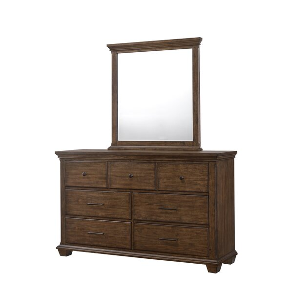 #2 Dorey 7 Drawer Dresser With Mirror By Gracie Oaks Today Only Sale