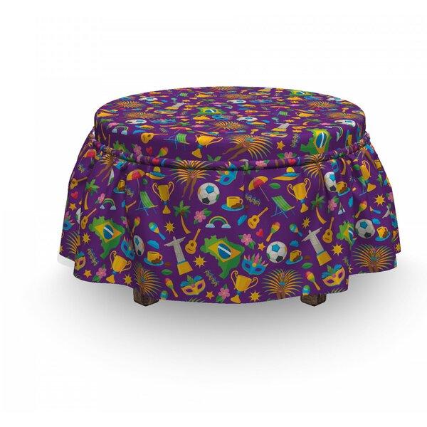 Vibrant Brazilian Items Ottoman Slipcover (Set Of 2) By East Urban Home