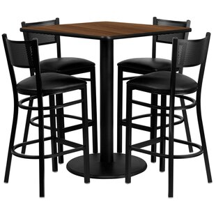 Suraj 5 Piece Pub Table Set By Red Barrel Studio