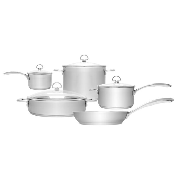 Induction 21 Steel™ 9-Piece Cookware Set by Chantal