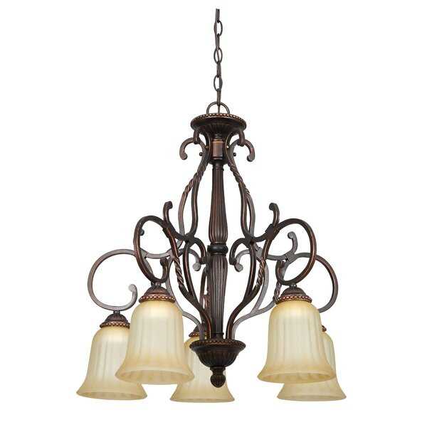 Corinth 5-Light Shaded Empire Chandelier By Fleur De Lis Living