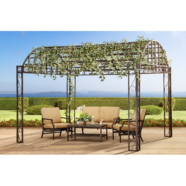 Siesta Garden 10 Ft. W x 12 Ft. D Metal Patio Gazebo by Sunjoy