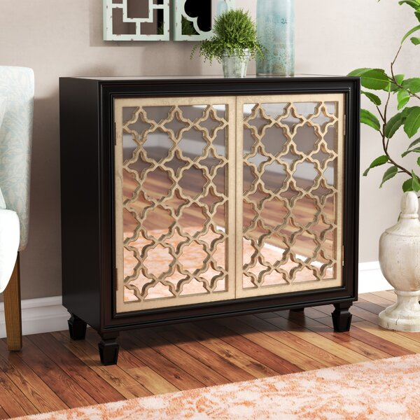 Savanah 2 Door Mirrored Accent Cabinet by House of Hampton House of Hampton