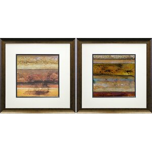 'Cardinal Point I and II' by Bouglas 2 Piece Framed Graphic Art Print Set by Star Creations