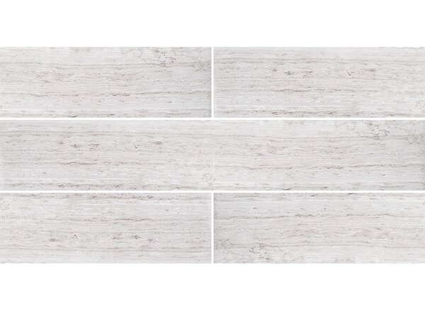 Wood Grain 4 x 24 Marble Field Tile in Gray by Parvatile