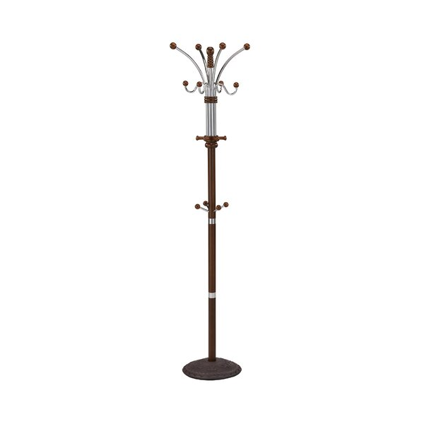 16 Hook Wood/Metal Coat Rack by WorldWide HomeFurnishings