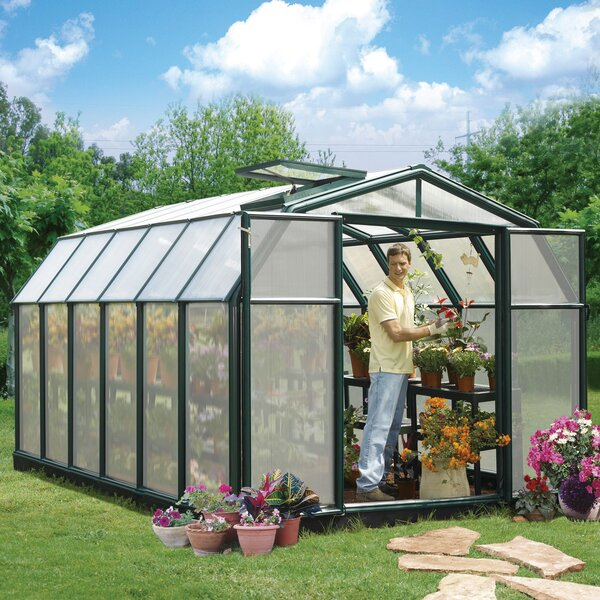 Hobby Gardener 2 Twin Wall 8 Ft. W x 12 Ft. D Greenhouse by Rion Greenhouses