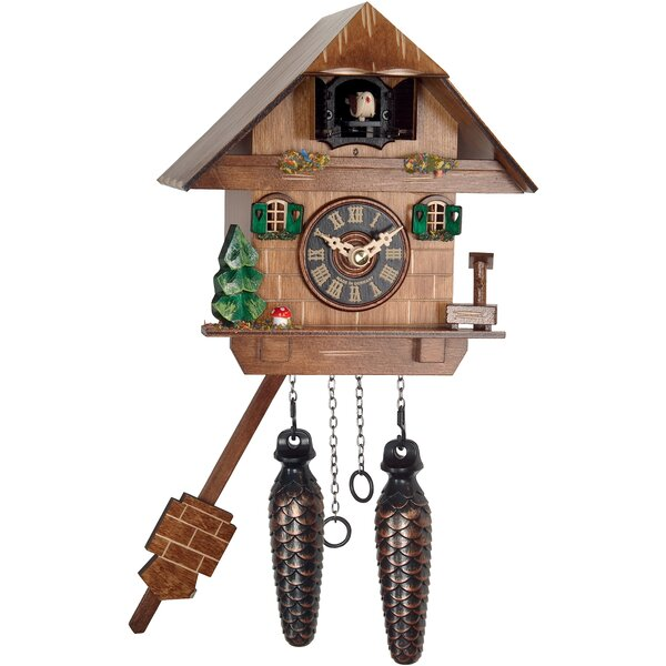 Battery-Operated Cuckoo Wall Clock by Loon Peak