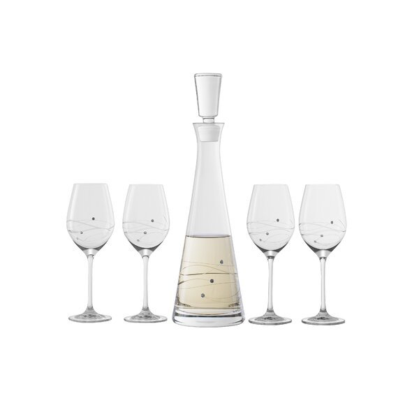 Hertzel 5 Piece Glass Beverage Serving Set by Latitude Run