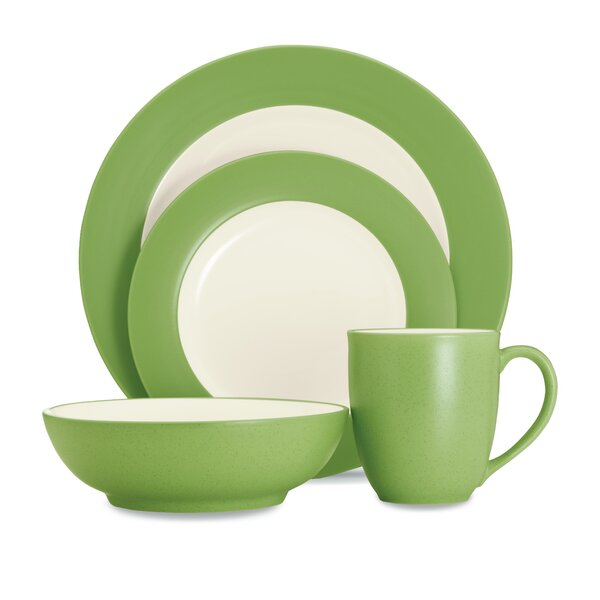 Colorwave Rim 4 Piece Place Setting, Service for 1 by Noritake