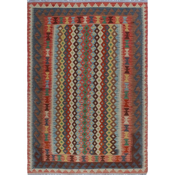 One-of-a-Kind Applewhite Hand-Woven Wool Brown/Blue Area Rug by Isabelline