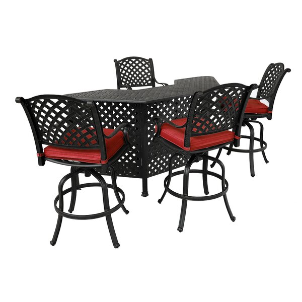 Catumba 5-Piece Bar Set by Charlton Home