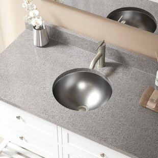 Bargain Circular Dual-Mount Bathroom Sink and Overflow ByMR Direct
