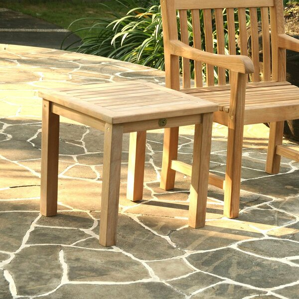 Kamden Solid Wood  Side Table by Highland Dunes