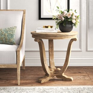 Adagio Pedestal End Table by Feminine French Country
