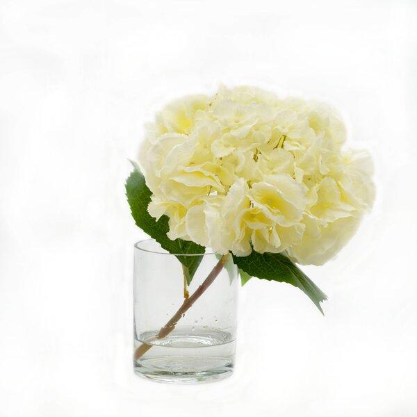 Faux White Hydrangea Stem by Birch Lane™