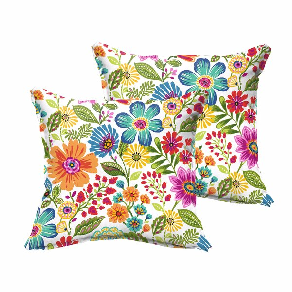 Paxton Traditional Floral Indoor/Outdoor Throw Pillow (Set of 2) by Andover Mills
