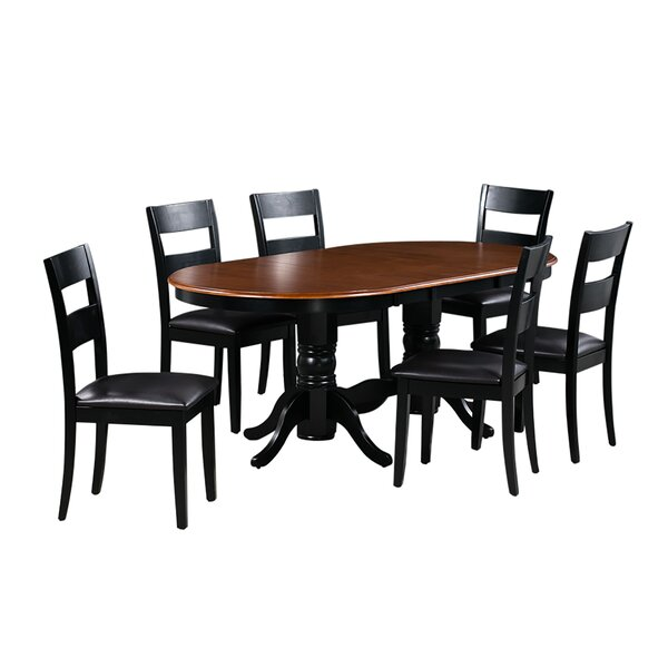 Dahlberg 7 Piece Extendable Solid Wood Dining Set by August Grove