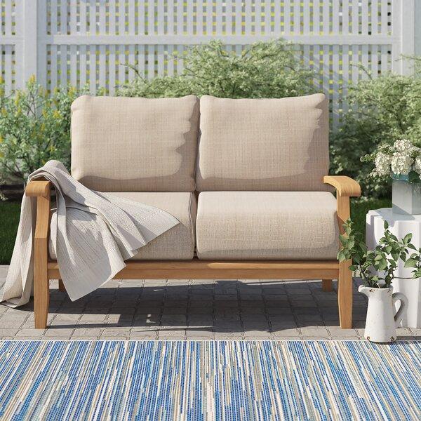 Summerton Teak Loveseat with Cushions by Birch Lane™ Heritage