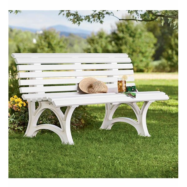 Weatherproof Resin Garden Bench By Plow & Hearth