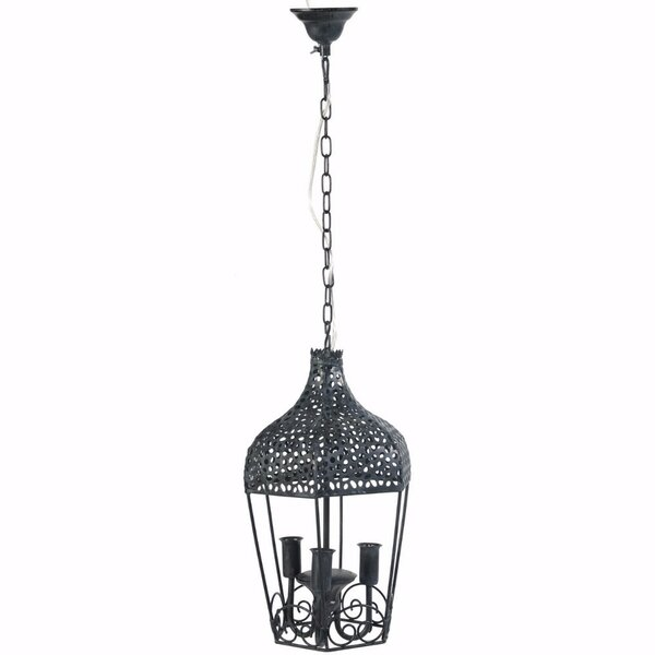 Elma 3-Light Lantern Pendant by Fleur De Lis Living