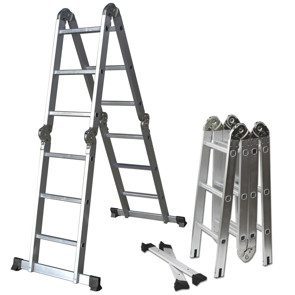OxGord 12.5 ft Aluminum Multi-Position Ladder & Reviews | Wayfair