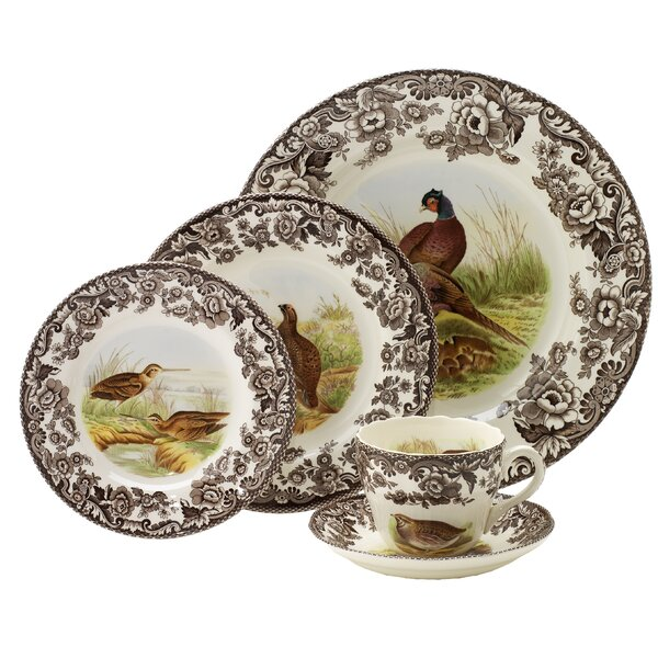 Woodland 5 Piece Place Setting, Service for 1 by Spode