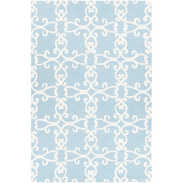 Ruggiero Hand-Tufted Blue/Cream Area Rug by One Allium Way