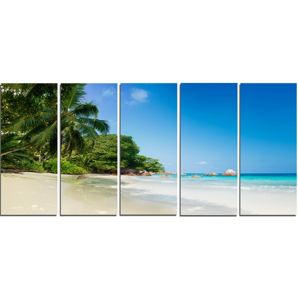 Beautiful Praslin Island Seychelles 5 Piece Wall Art on Wrapped Canvas Set by Design Art