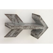 Coffee Wood Metal Wall Hook by Williston Forge