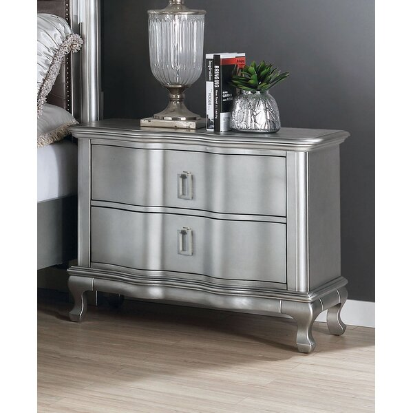 Serafin 2 Drawer Nightstand by Everly Quinn