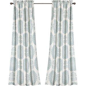 heron blackout rod pocket curtain panels set of 2