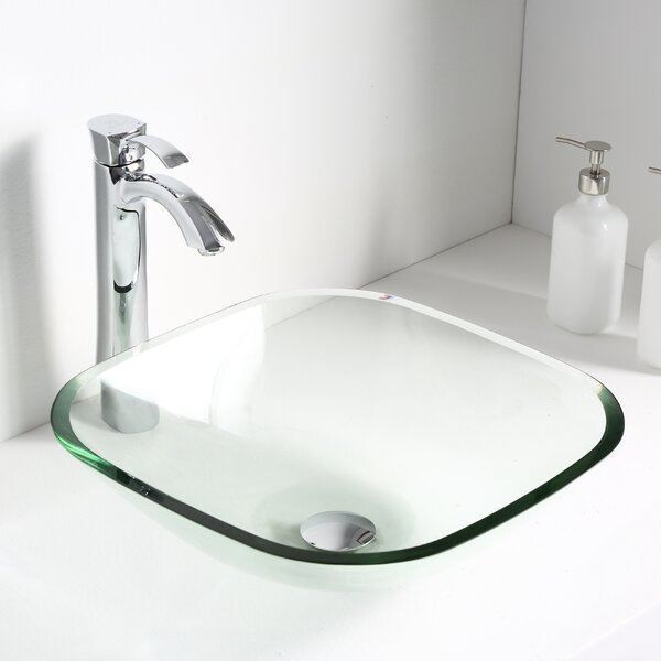 Cadenza Glass Circular Vessel Bathroom Sink by ANZZI