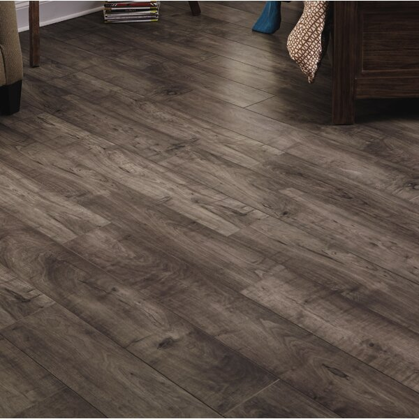 Restoration Wide Plank 8'' x 51'' x 12mm Maple Laminate Flooring in Mist by Mannington