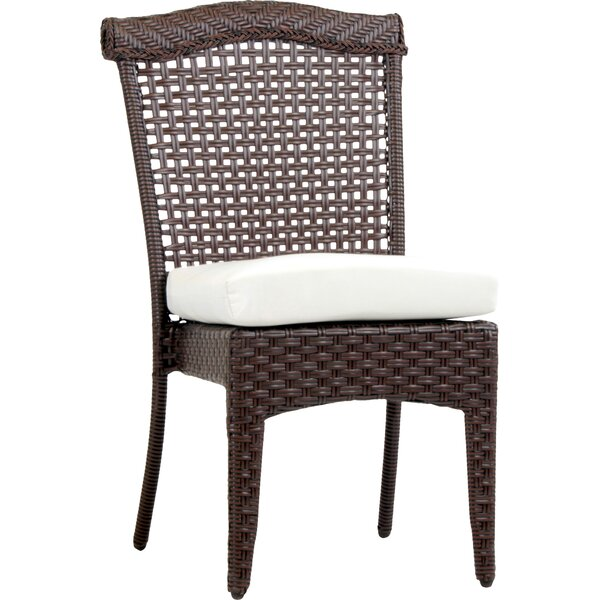 Allerdale Stacking Patio Dining Chair with Cushion by Bloomsbury Market