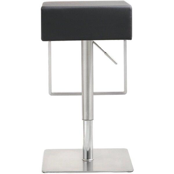 Hatmaker Adjustable Height Swivel Bar Stool by Orren Ellis