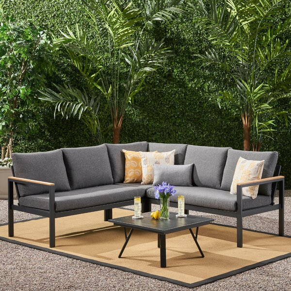 Menzel 4 Sectional Seating Group with Cushions by Latitude Run