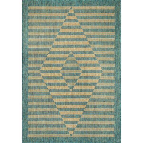 Linde Green Indoor/Outdoor Area Rug by Bungalow Rose
