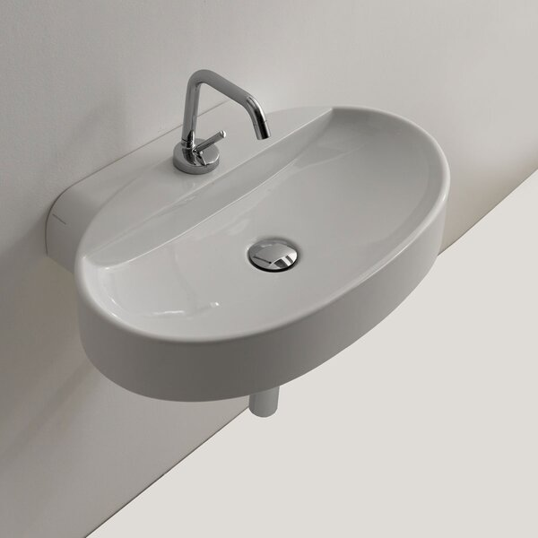 Cento Ceramic 24 Wall Mount Bathroom Sink by WS Bath Collections
