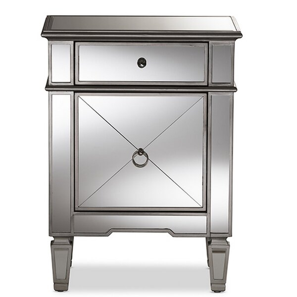 Wynnewood Glamour 1 Drawer Nightstand by Rosdorf Park