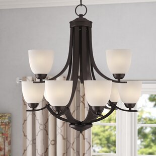 Reviews Hayden 9-Light Shaded Chandelier By Andover Mills