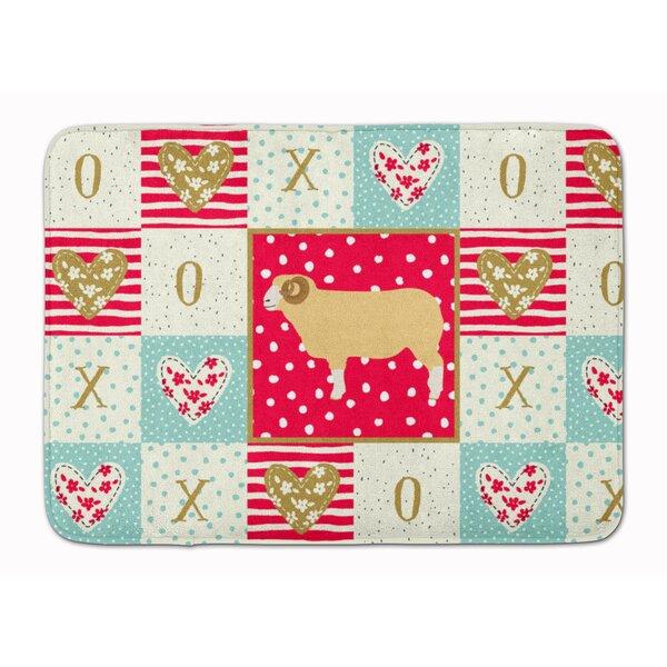 Gyrith Horned Dorset Sheep Love Memory Foam Kitchen Mat
