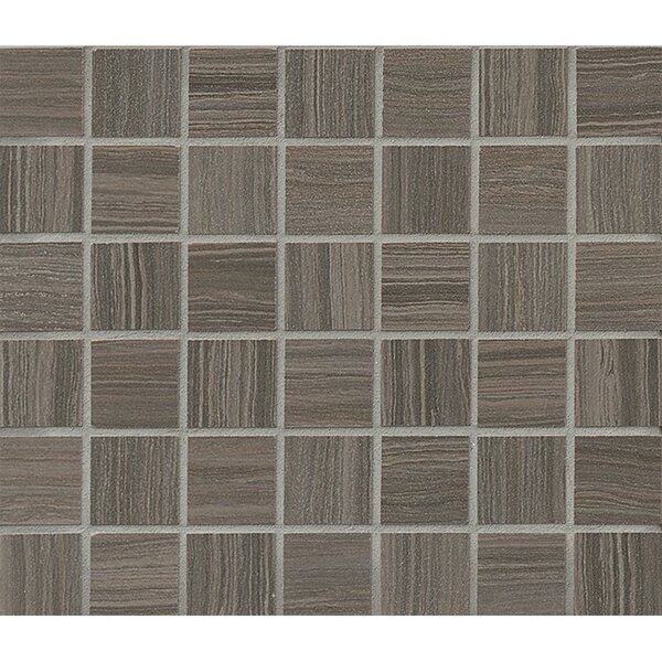 Refine 1.5 x 1.5 Porcelain Mosaic Tile in Shadow by Grayson Martin