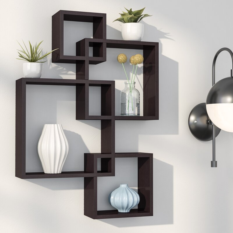 9 Wall Storage Ideas That You Need To Try: Langley Street Elizabella Intersecting Cubes Shelf