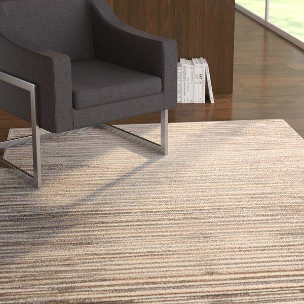 Brady Ivory/Gray Area Rug by Ebern Designs