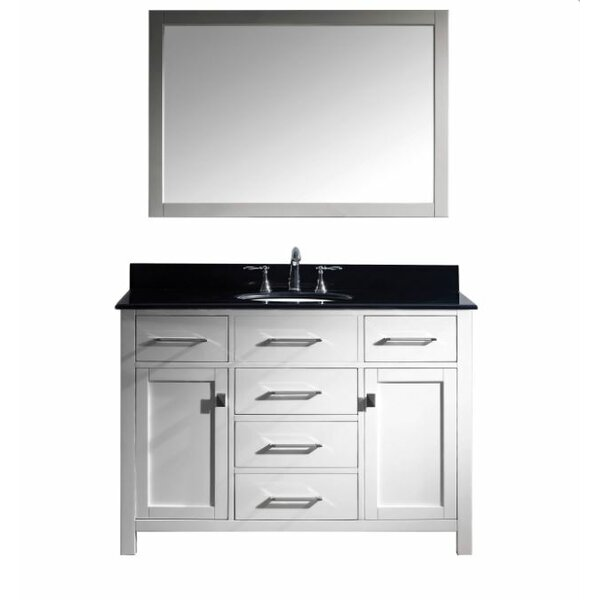 Kenilworth 48 Single Bathroom Vanity Set with Mirror by Highland Dunes