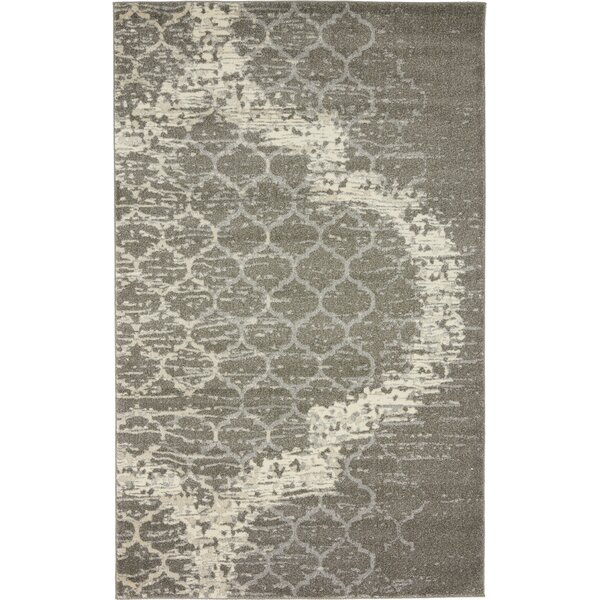 Steinbeck Light Gray Area Rug by Wrought Studio