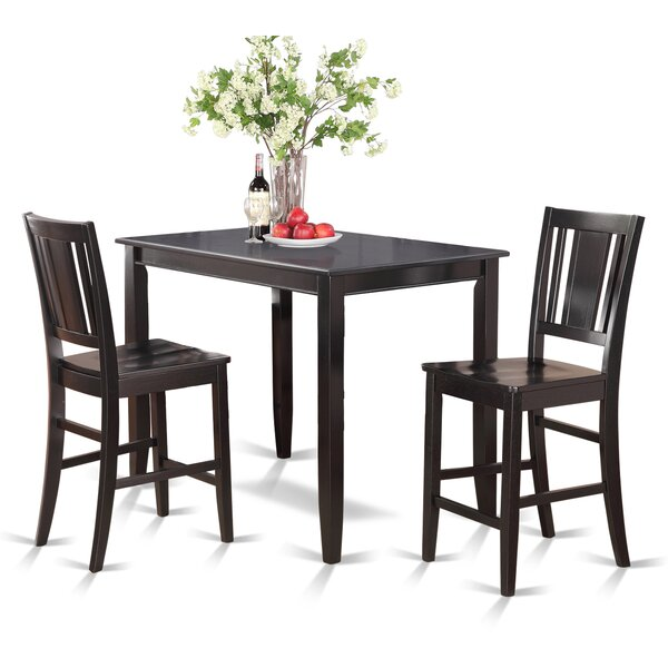 Lightner 3 Piece Counter Height Dining Set by Red Barrel Studio