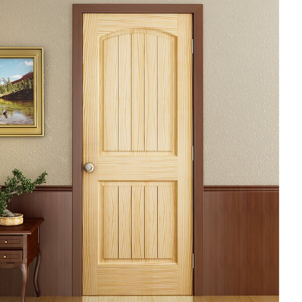 Colonial 2 Panel Solid Pine Slab Interior Door by Kimberly Bay