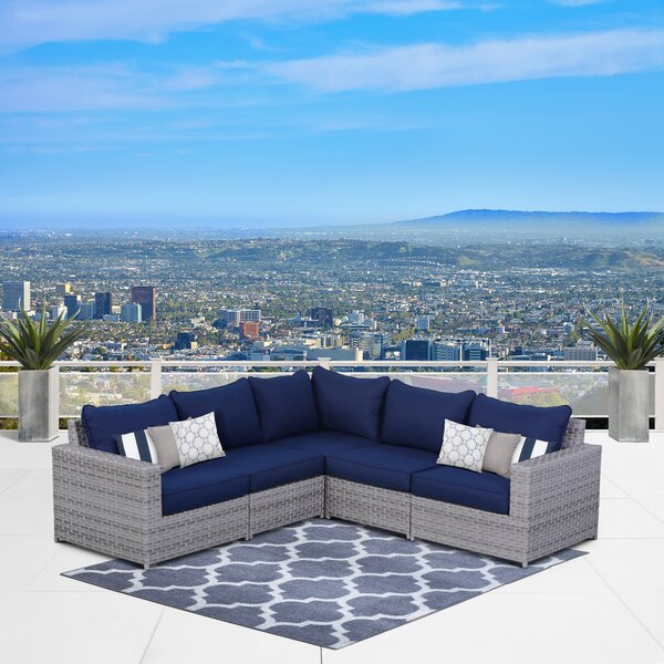 Kordell Patio Sectional with Cushions by Sol 72 Outdoor